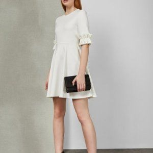 Ted Baker Ritzi Ruffle White Cuff Dress